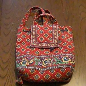 Vera Bradley Vintage Drawstring Backpack